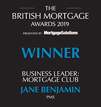 British Mortgage Awards - Jane Benjamin - Winner Business Club Leader