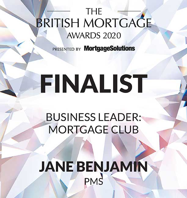 Jane Benjamin finalist British Mortgage Awards 2020